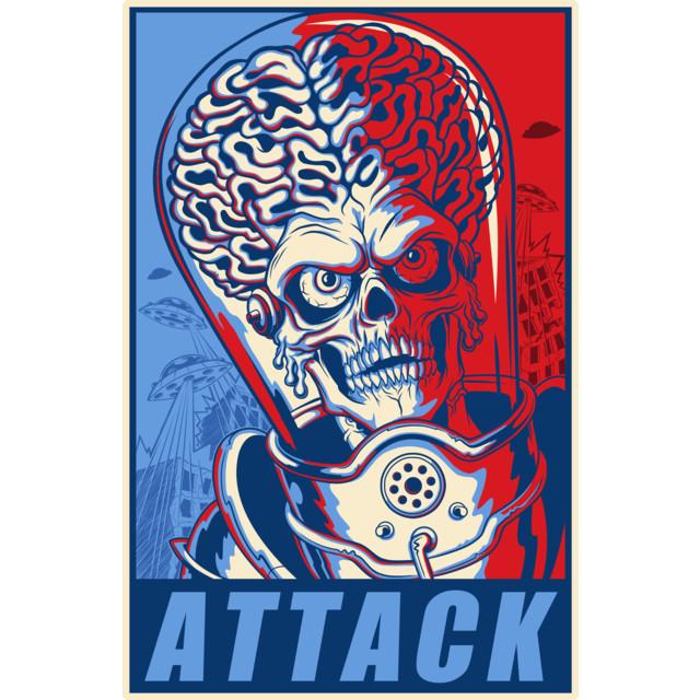 Attack! T-shirt Design by ArtofCorey