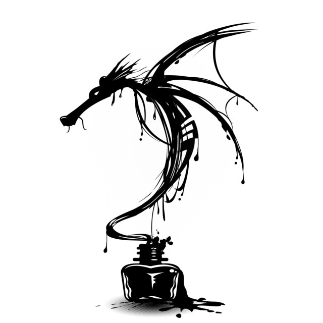 Ink Dragon T-shirt Design by alnavasord design