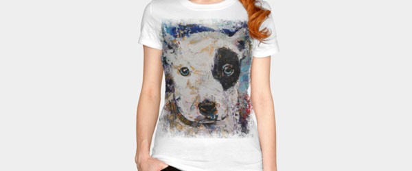 PIT BULL PUPPY T-shirt Design by creese design main image