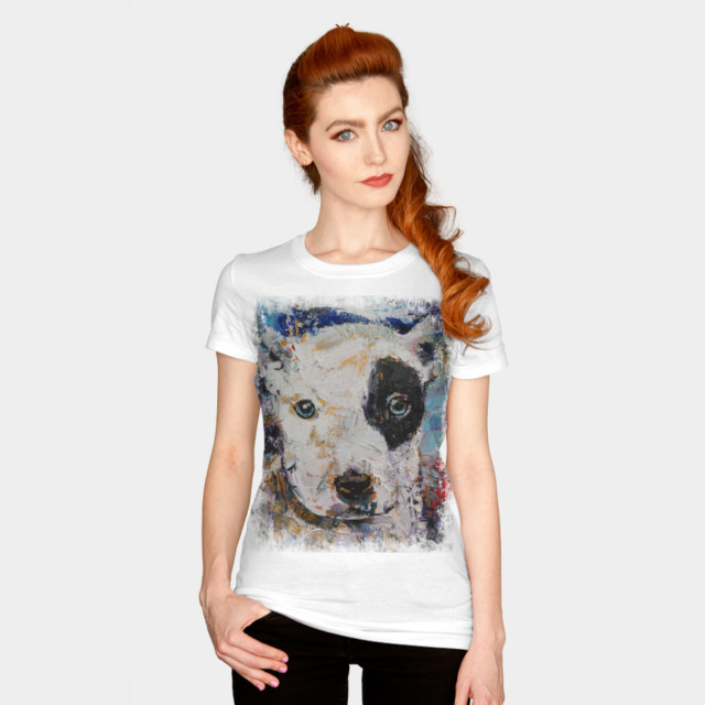 PIT BULL PUPPY T-shirt Design by creese woman
