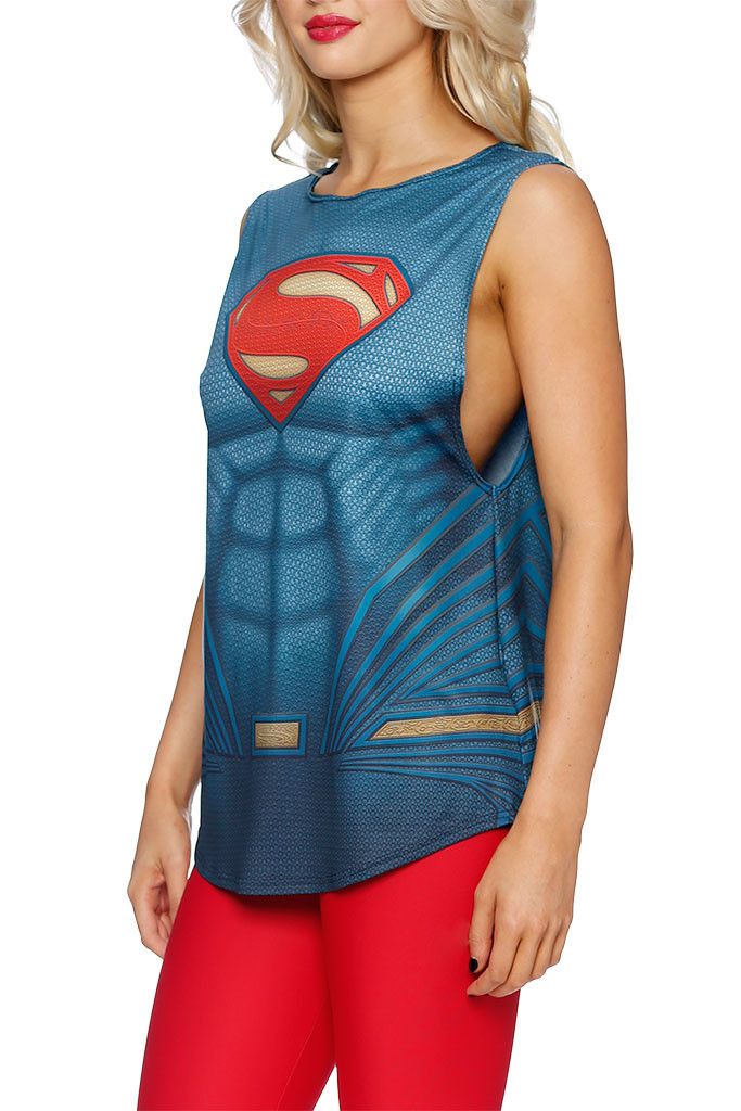 SUPERMAN SUIT MUSCLE TOP close
