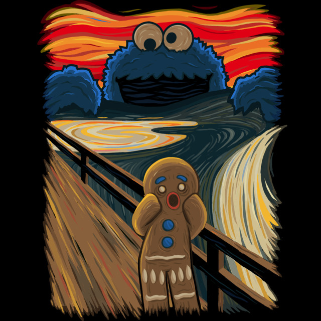 The Cookie Muncher T-shirt Design by IdeasConPatatas design
