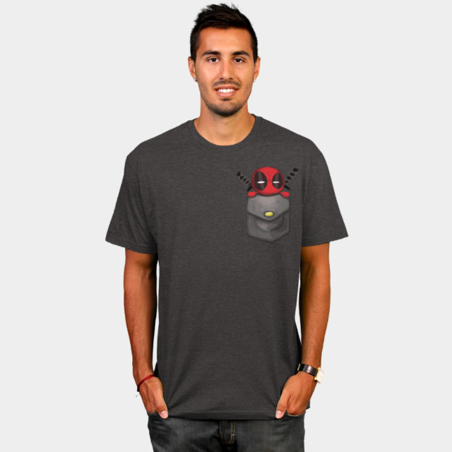 Deadpool Pocket T-shirt by Marvel man tee