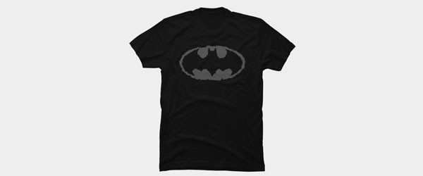 Distressed Bat Signal T-shirt Design by DCComics main image
