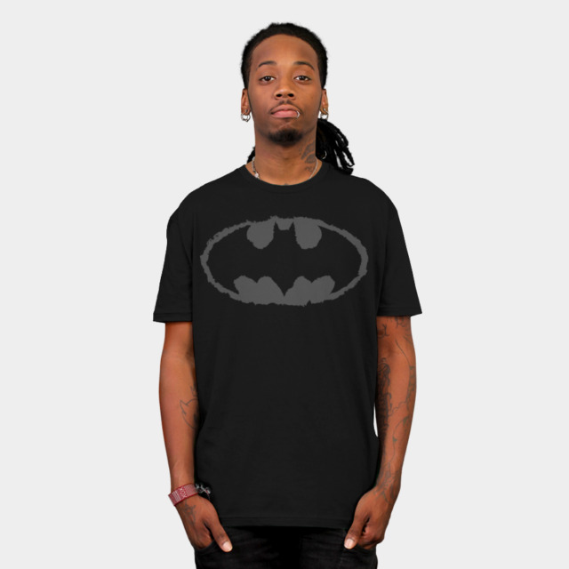 Distressed Bat Signal T-shirt Design by DCComics man tee