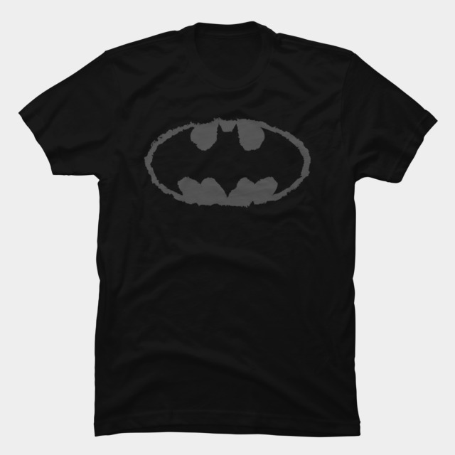Distressed Bat Signal T-shirt Design by DCComics tee