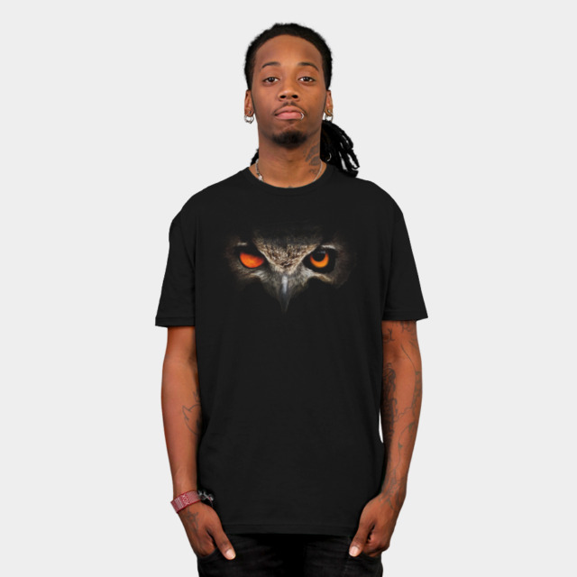 Owl of sun and moon T-shirt Design by mmTriton man