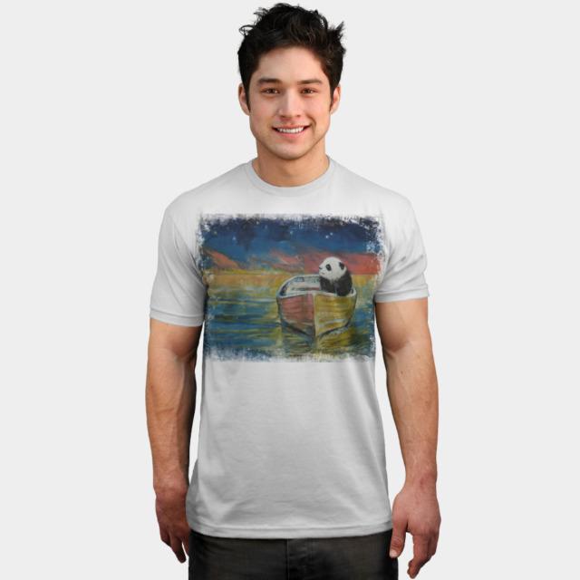 PANDA STARGAZER T-shirt Design by creese man
