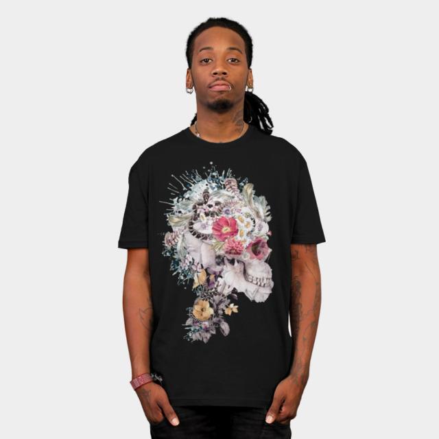 Skull XI T-shirt Design by rizapeker man