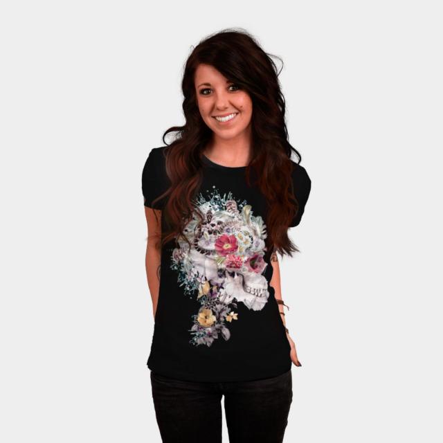Skull XI T-shirt Design by rizapeker woman