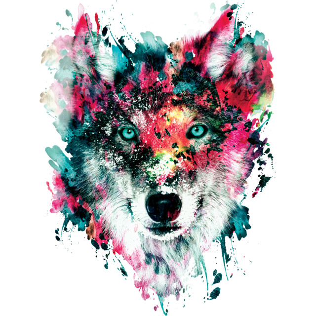 Wolf T-shirt Design by rizapeker design