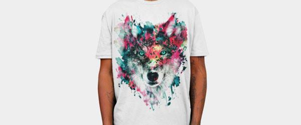 Wolf T-shirt Design by rizapeker main image