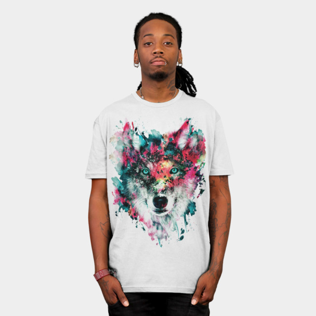 Wolf T-shirt Design by rizapeker man