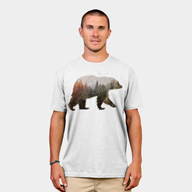 Bear T-shirt Design by sookkol man