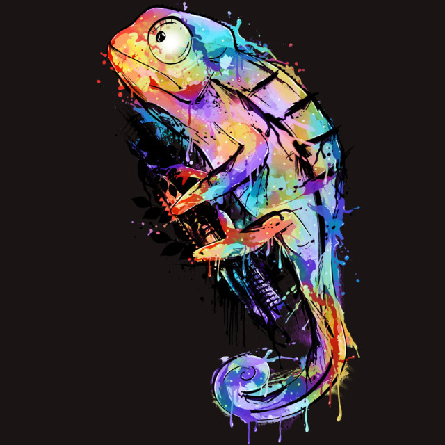 Chameleon T-shirt Design by alnavasord design