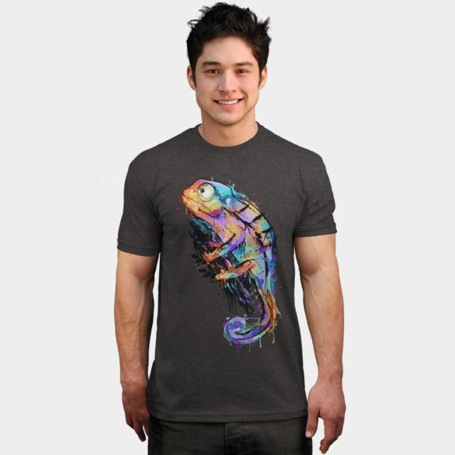 Chameleon T-shirt Design by alnavasord man