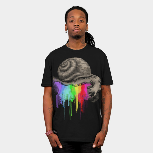 DRIPPING COLORS T-shirt Design by ogie1023 man