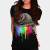 DRIPPING COLORS T-shirt Design by ogie1023 woman main image