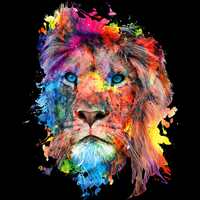 Lion T-shirt Design by rizapeker design