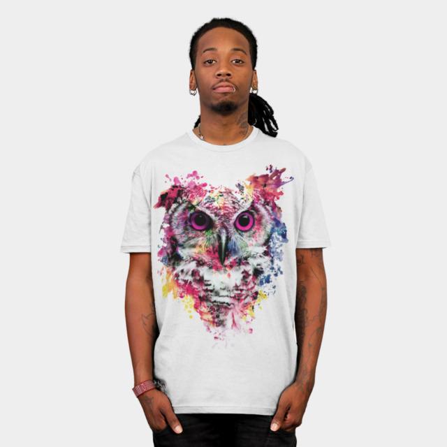 Owl T-shirt Design by rizapeker - Fancy T-shirts