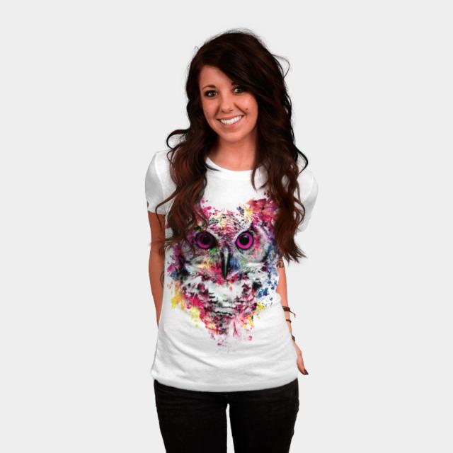 Owl T-shirt Design by rizapeker woman