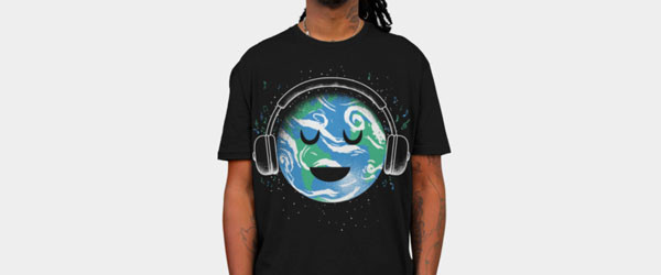 The whole earth loves music T-shirt Design by biotwist main image