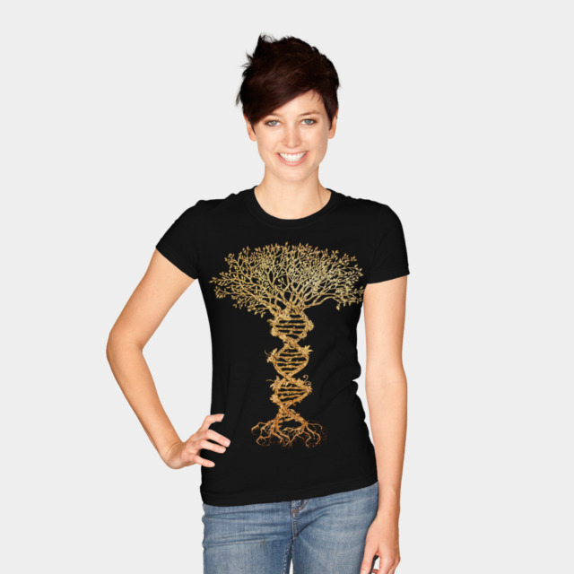 Tree of life T-shirt Design by timea woman