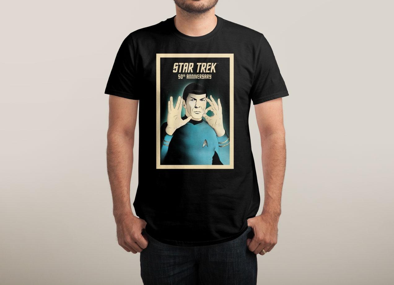 50 - LIVE LONG AND PROSPER T-shirt Design by Star Trek man