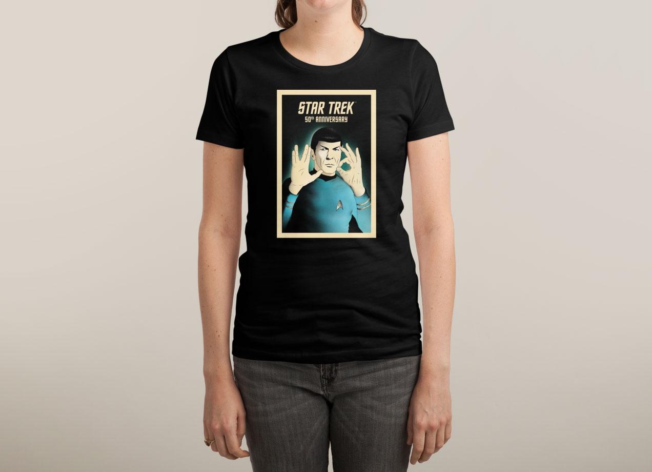 50 - LIVE LONG AND PROSPER T-shirt Design by Star Trek woman