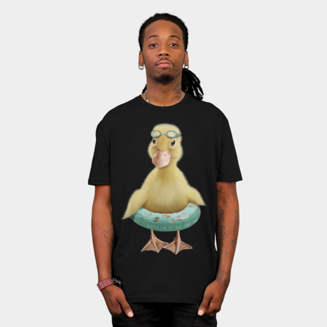 DUCK T-shirt Design by ADAMLAWLESS man