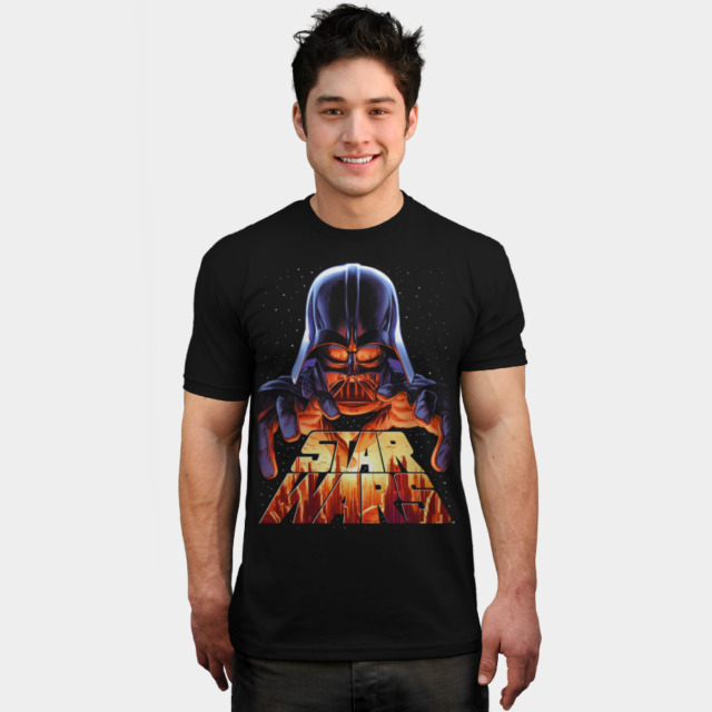 Darth Vader in Control T-shirt Design by StarWars man