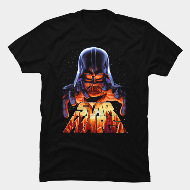 Darth Vader in Control T-shirt Design by StarWars woman