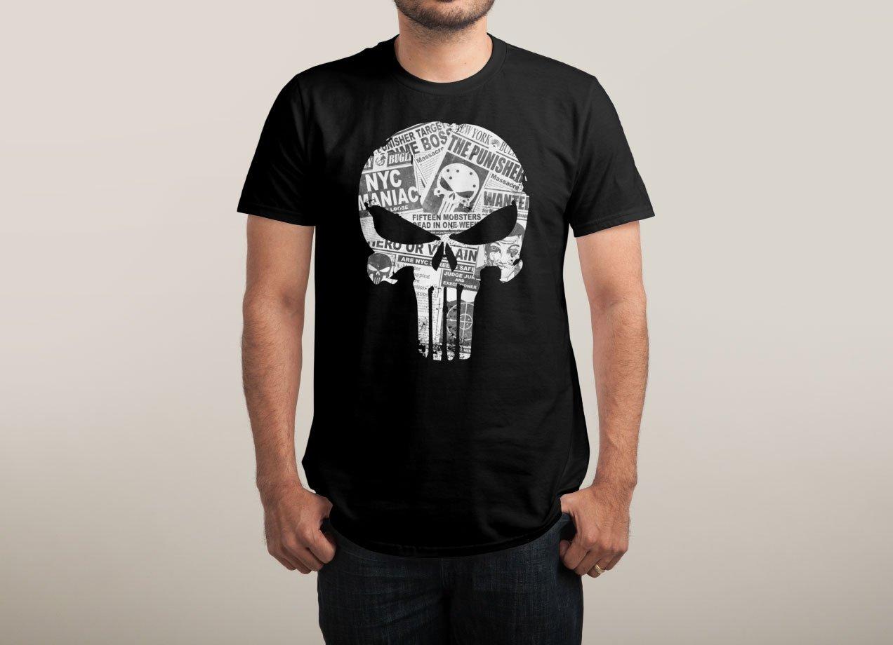 HERO OR VILLAIN T-shirt Design by Daniel Stevens man