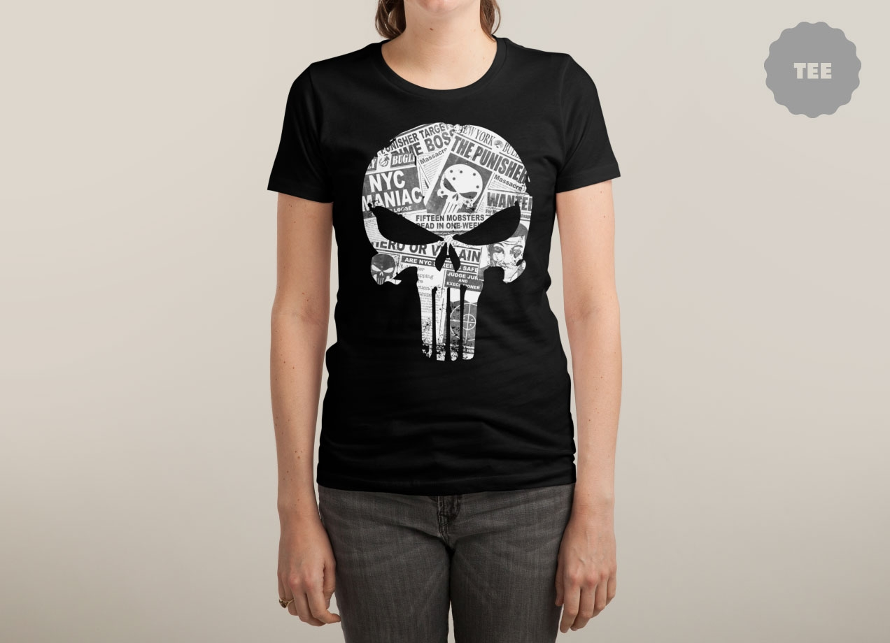 HERO OR VILLAIN T-shirt Design by Daniel Stevens woman