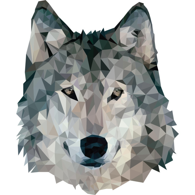 Low Poly Wolf T-shirt Apparel  JosePepin design