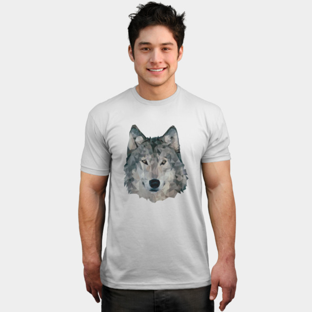 Low Poly Wolf T-shirt Apparel  JosePepin man