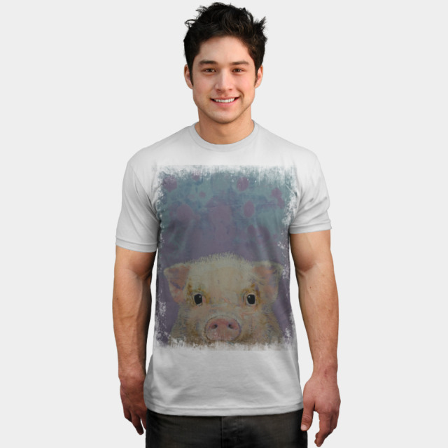 PIGLET T-shirt Design by creese man