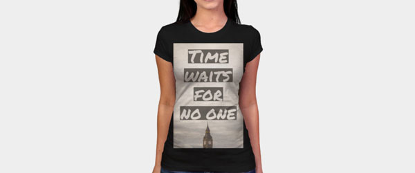 Time Waits For No One T-shirt Design by shayne23 womain image