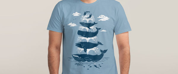 WHALE OF A TIME T-shirt Design by Christopher Phillips man main