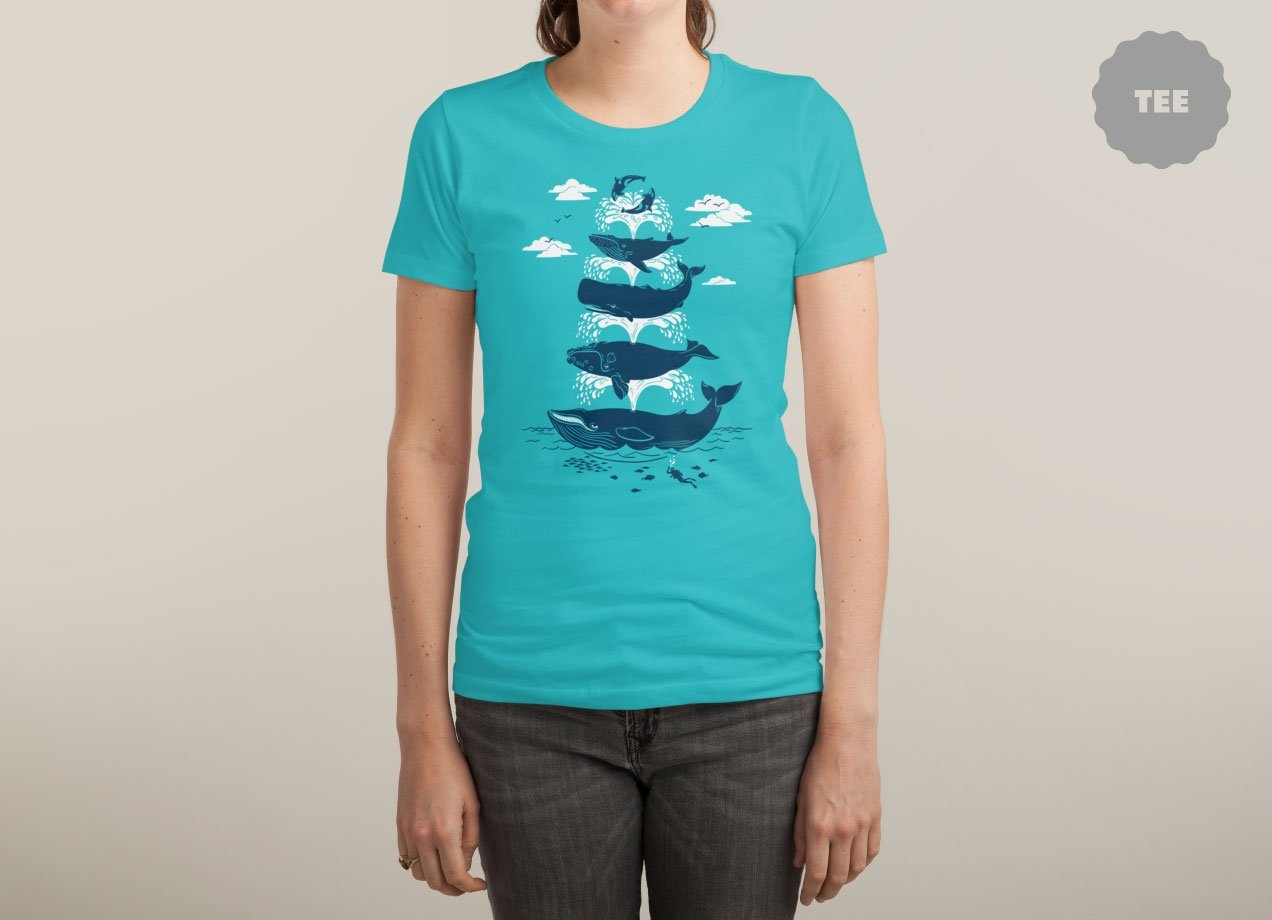 WHALE OF A TIME T-shirt Design by Christopher Phillips woman