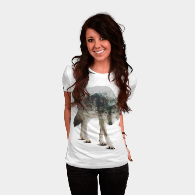 Winter Hunter T-shirt Design by sookkol woman