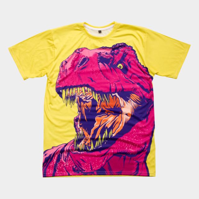 DINO FRENZY T-shirt Design by MR-NICOLO man