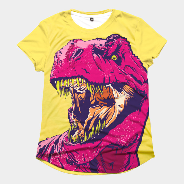 DINO FRENZY T-shirt Design by MR-NICOLO woman