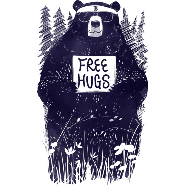 FREE HUGS T-shirt Design by gloopz design