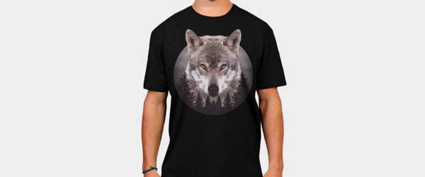 Forest Wolf T-shirt Design by Mel00 main image