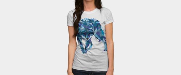 Ice Wolf T-shirt Design by Haldeda woman main image