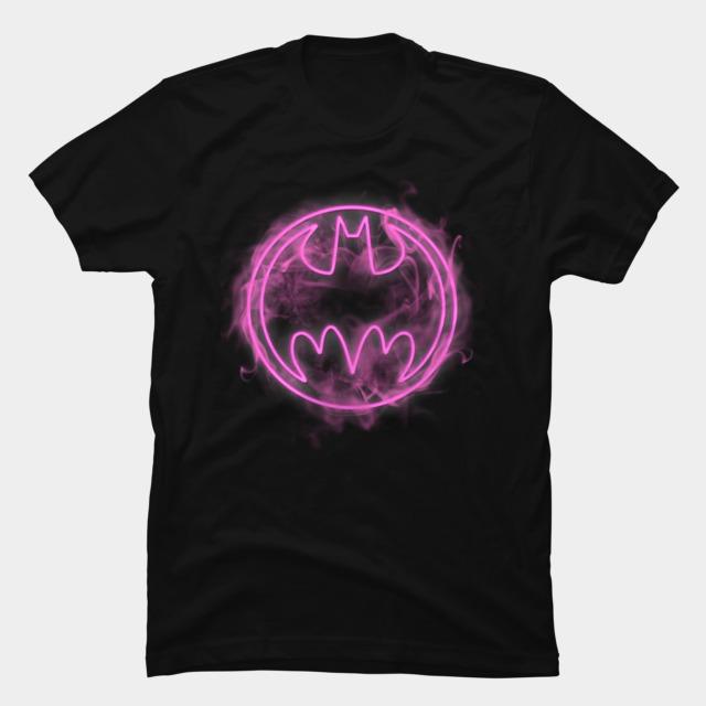 Neon Pink Bat Signal T-shirt Design by  DCComics tee
