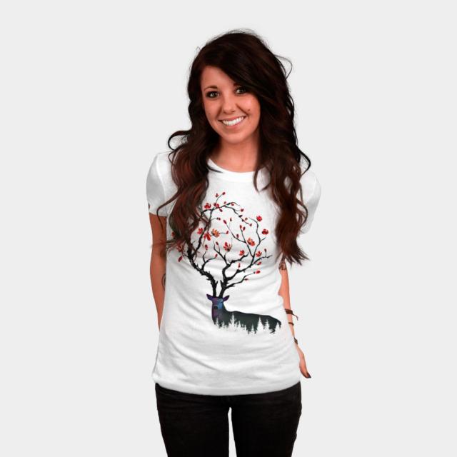 e591a688 Nice Horns T-shirt Design by hkartist - Fancy T-shirts