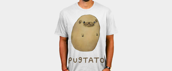 Pugtato T-shirt Design by SophieCorrigan main image