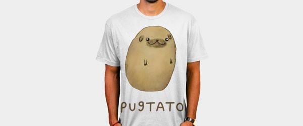 Pugtato T-shirt Design by SophieCorrigan main image